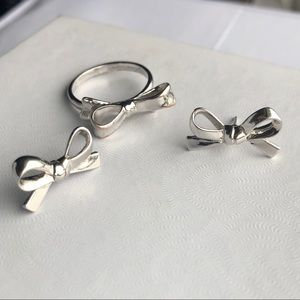 kate spade Jewelry - Kate Spade Silver Bow Set